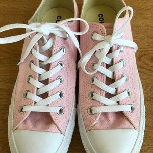Converse Pink Perforated Low Sneakers